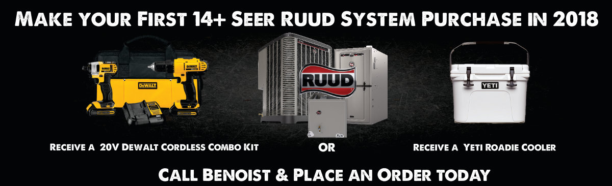 Make Your First 14+ Seer Ruud System Purchase in 2019 Promotion